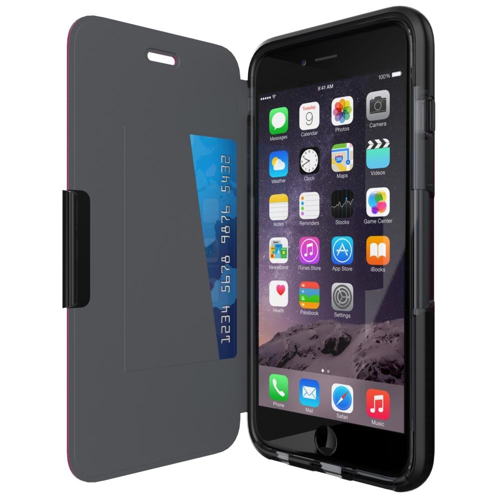 Tech21 Evo Wallet Pouzdro flip Apple iPhone 6 Plus/6s Plus kouřové