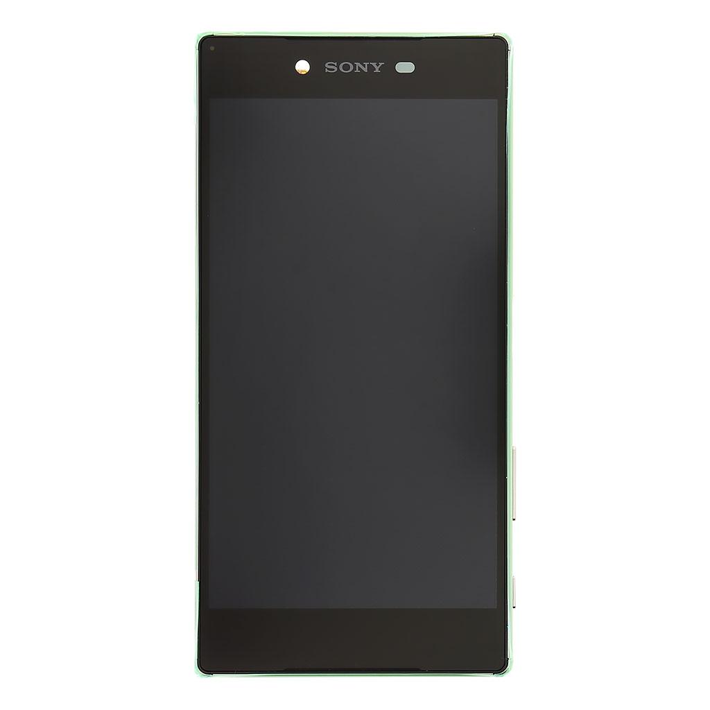 LCD display + dotyk. deska + př. kryt pro Sony Xperia Z5 Premium (E6853), Chrome (Service Pack)