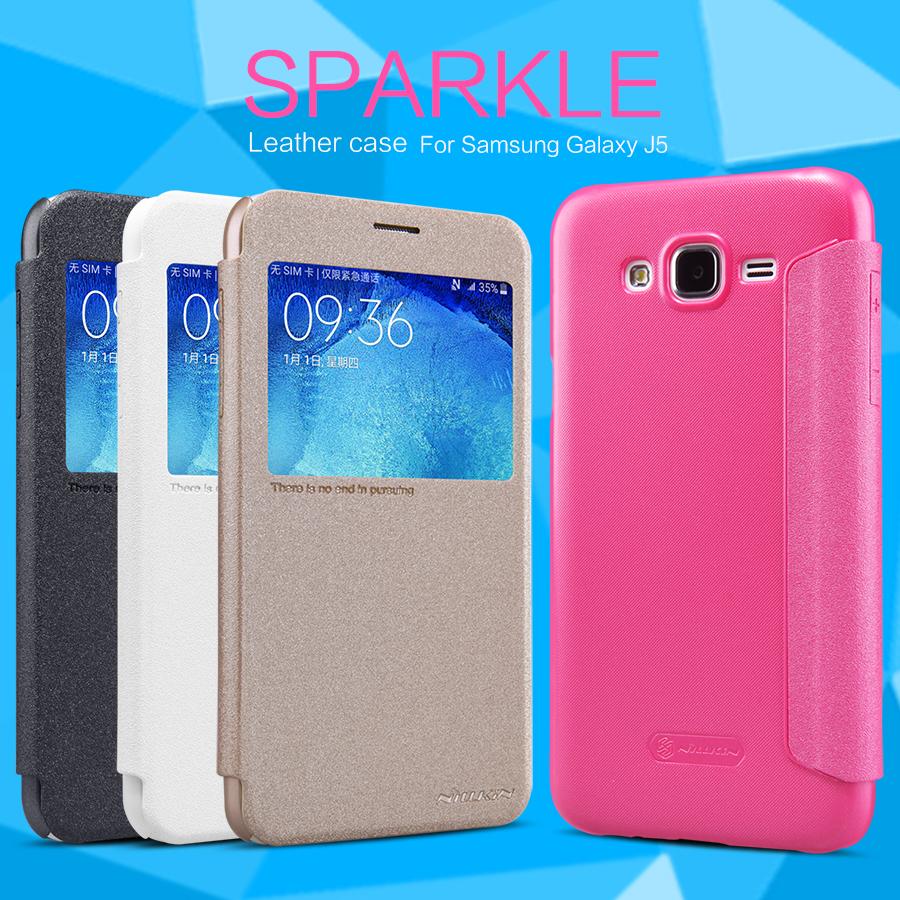Pouzdro Nillkin Sparkle S-View flip Samsung Galaxy J3 (J320) 2016 bílé