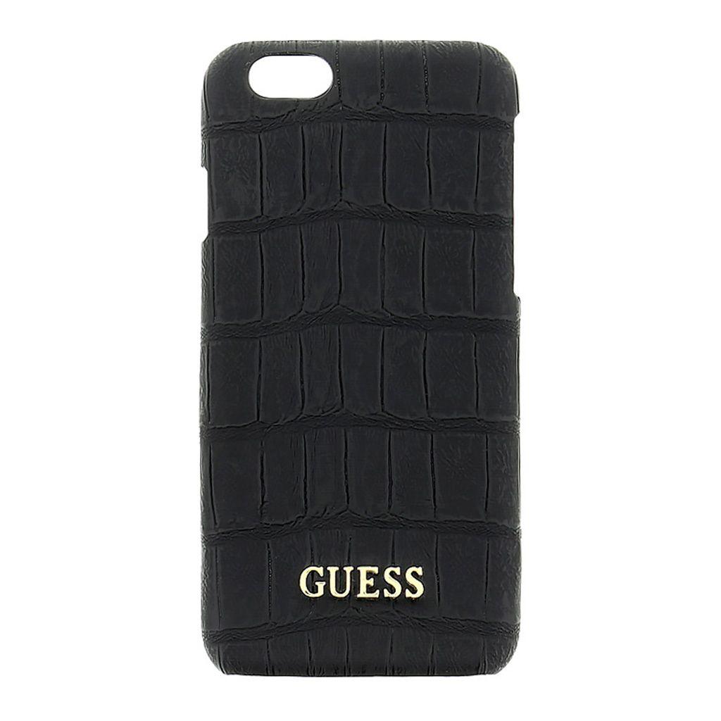 Zadní kryt Guess Shiny Croco GUHCP6MCOBK pro Apple iPhone 6/6S černý