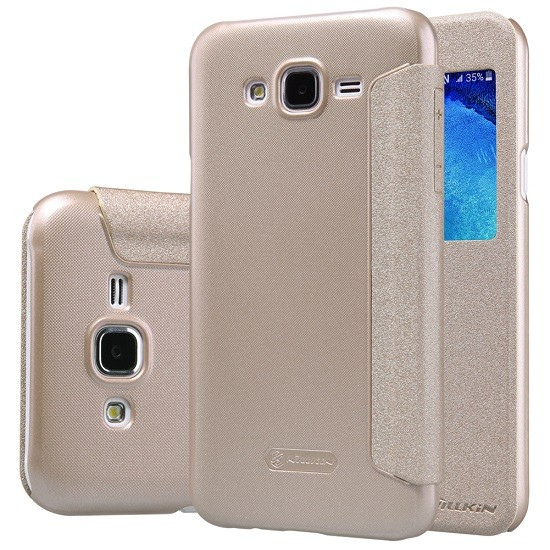 Nillkin Sparkle S-View Flipové pouzdro LG K4 K120 zlaté
