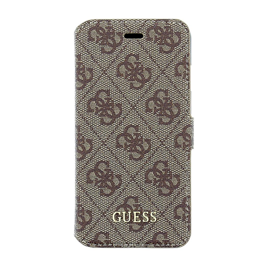 Pouzdro Guess 4G Uptow Book GUFLBKP64GB pro Apple iPhone 6/6S hnědé