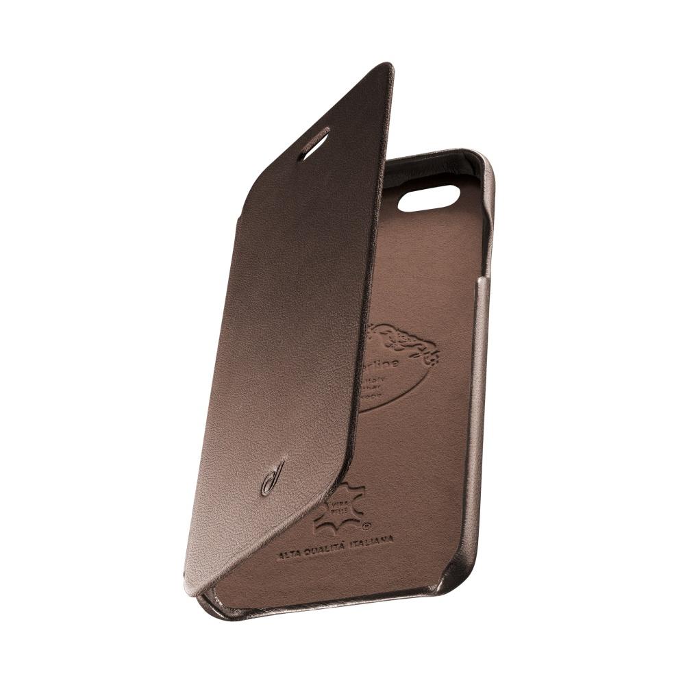 CellularLine SUITE pouzdro flip Apple iPhone 6/6s pravá kůže hnědé
