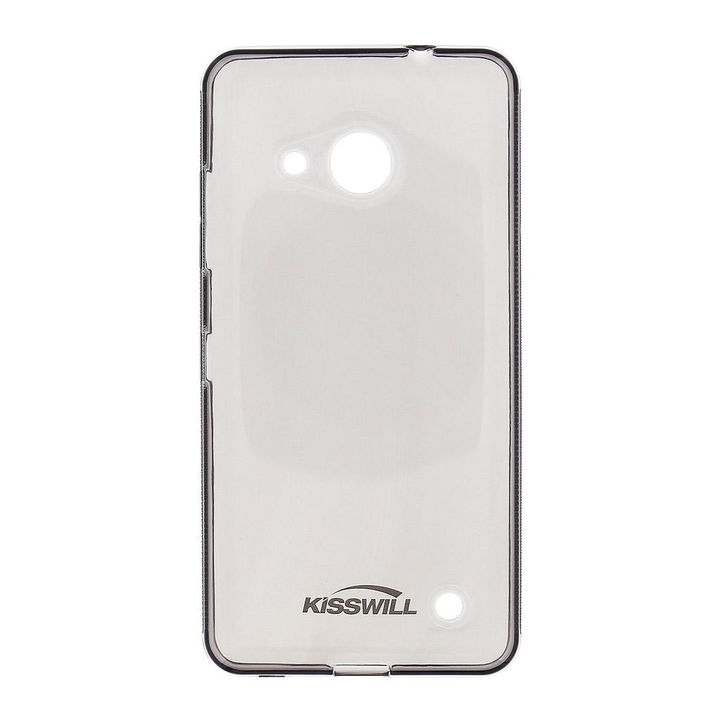 Silikonové pouzdro Kisswill pro Nokia Lumia 650, černé