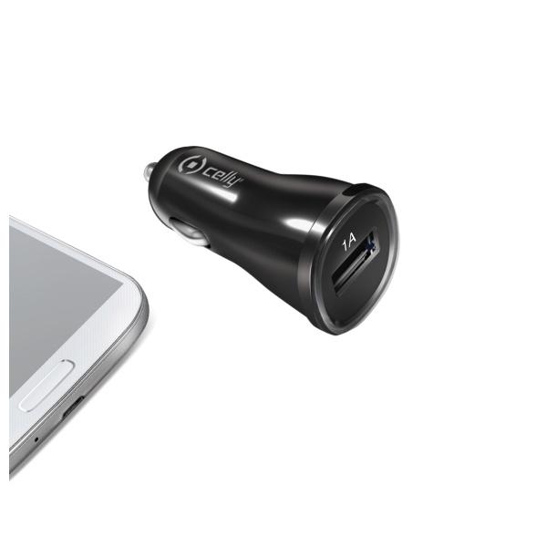 CELLY CL autonabíječka s USB výstupem 1A černá (blister)