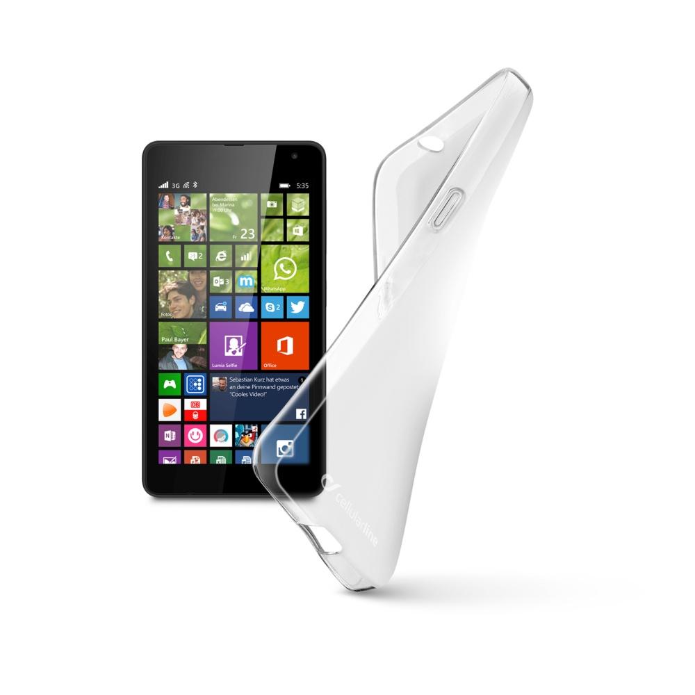 Cellularline SHAPE silikonové pouzdro Microsoft Lumia 535 bezbarvé