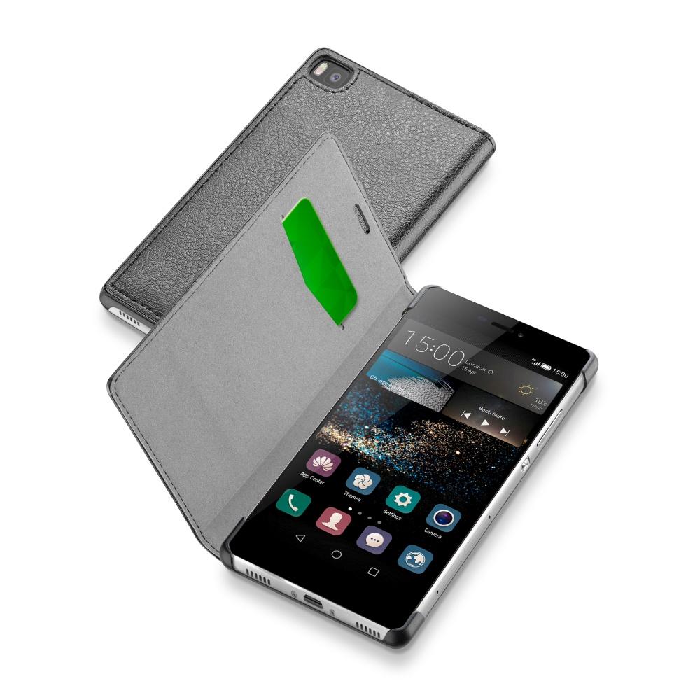 CellularLine Book Essential pouzdro flip na Huawei P8 černé
