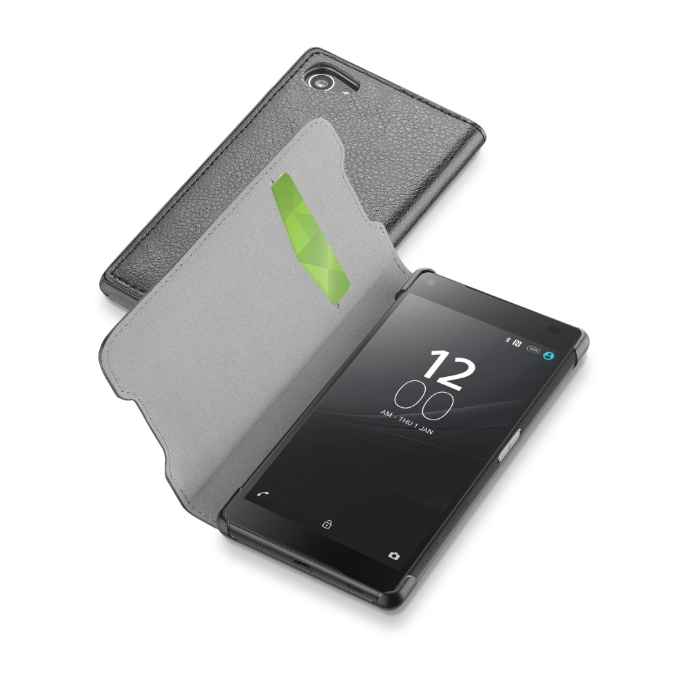 CellularLine Book Essential pouzdro flip Sony Xperia Z5 Compact černé