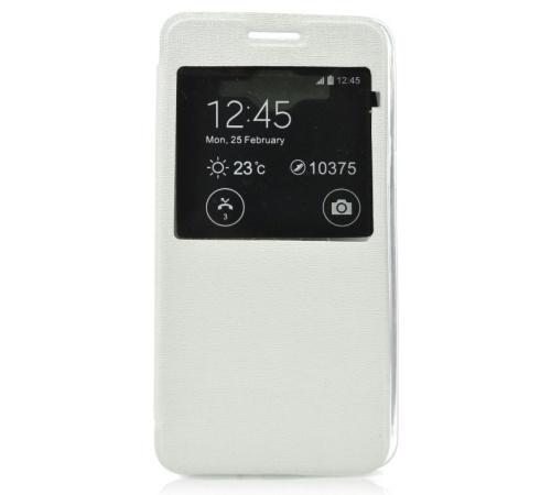 Forcell S-View flipové pouzdro Samsung Galaxy J1 bílé