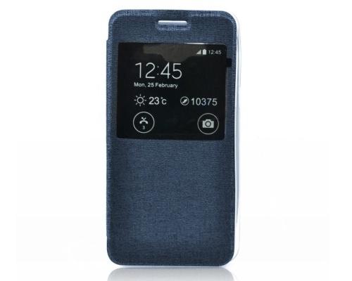 Forcell S-View flipové pouzdro Samsung Galaxy J1 modré