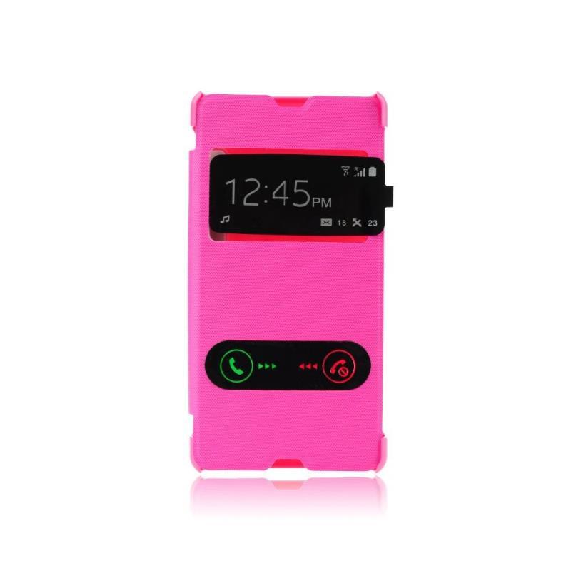 ForCell S-View flipové pouzdro LG L Fino (D290N) růžové