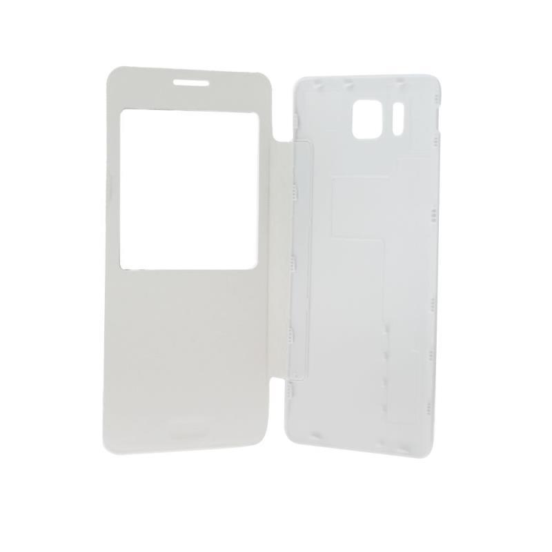 Forcell S-View flipové pouzdro na Samsung Galaxy Alpha bílé