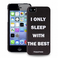 Puro zadní kryt HAPPINESS pro iPhone 5/5S/SE I ONLY SLEEP WITH THE BEST
