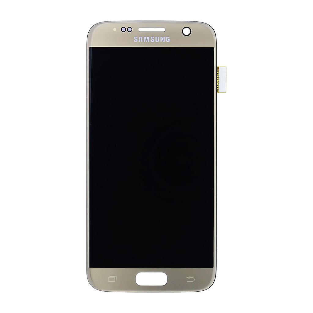 LCD display + dotyk. deska pro Samsung Galaxy S7 (G930) zlatá