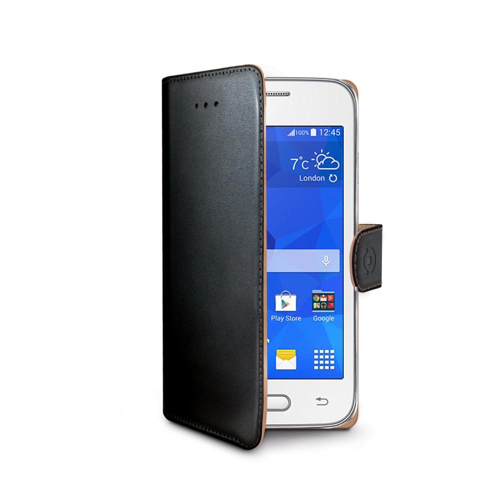 CELLY Wally Pouzdro flip Samsung Galaxy Trend 2 Lite černé