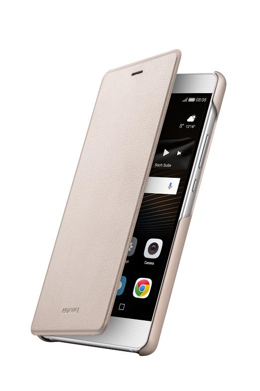Huawei Original Folio flipové pouzdro Huawei P9 Lite zlaté