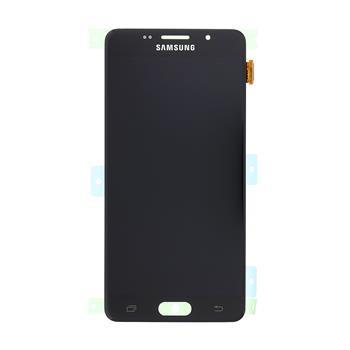 LCD displej + dotyk.deska + př. kryt pro Samsung Galaxy A5 2016 (A510), černý