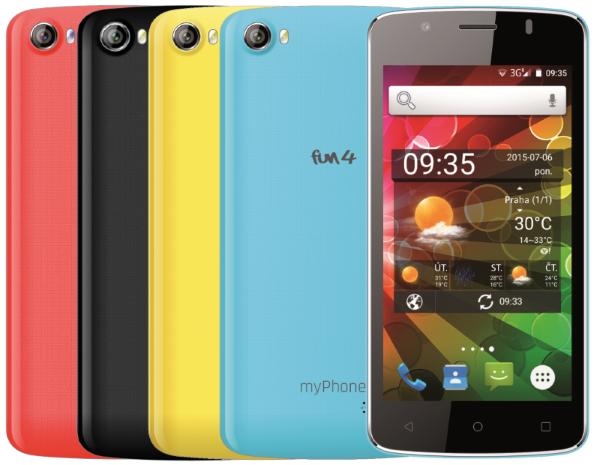CPA myPhone FUN 4 Dual SIM + 4 výměnné kryty