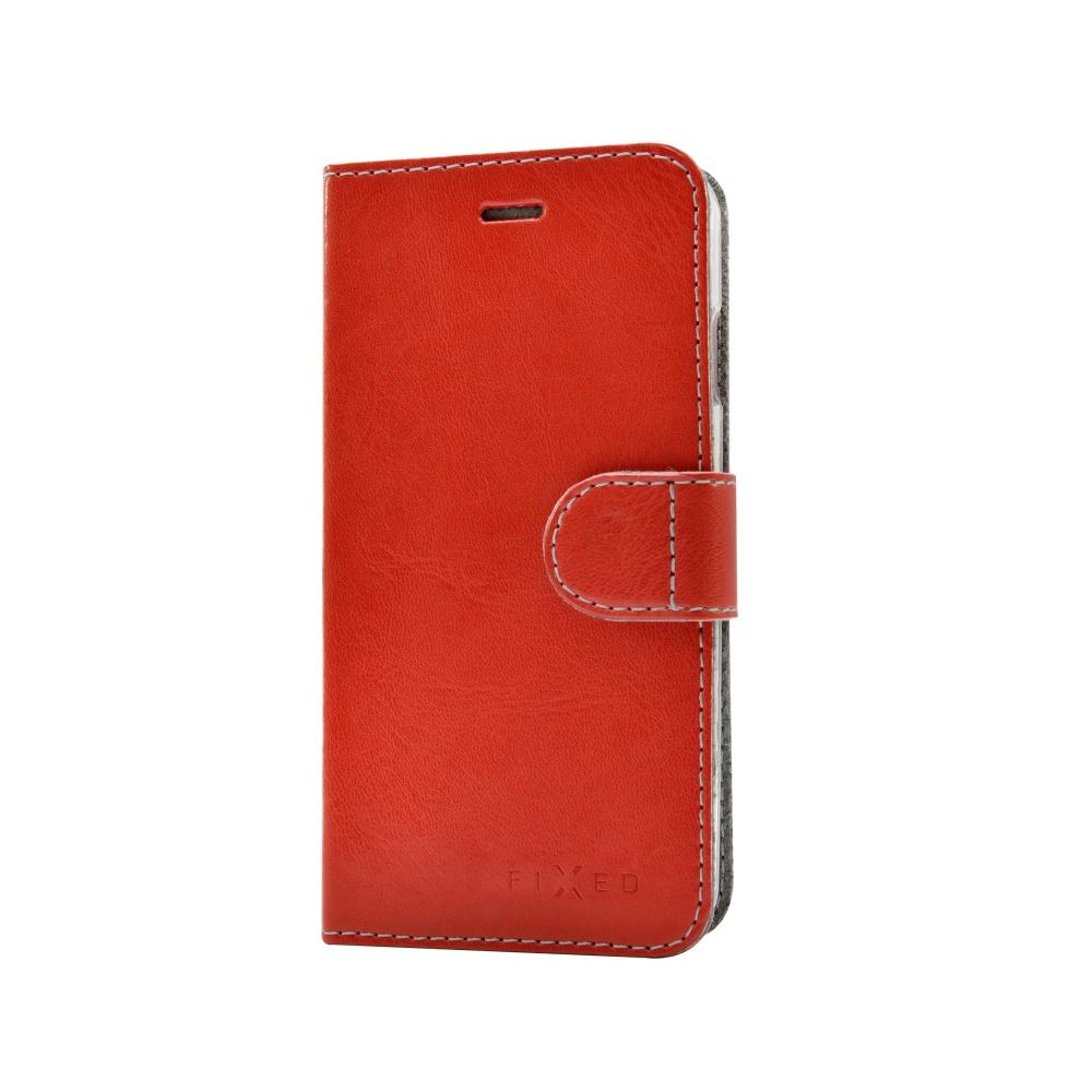 FIXED FIT flipové pouzdro Apple iPhone 5/5s/SE červené