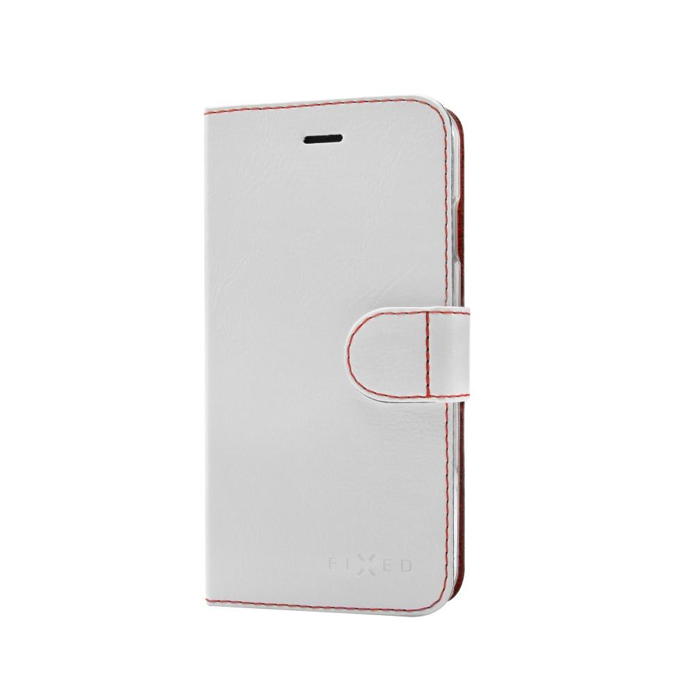 FIXED FIT flipové pouzdro Apple iPhone 5/5s/SE bílé