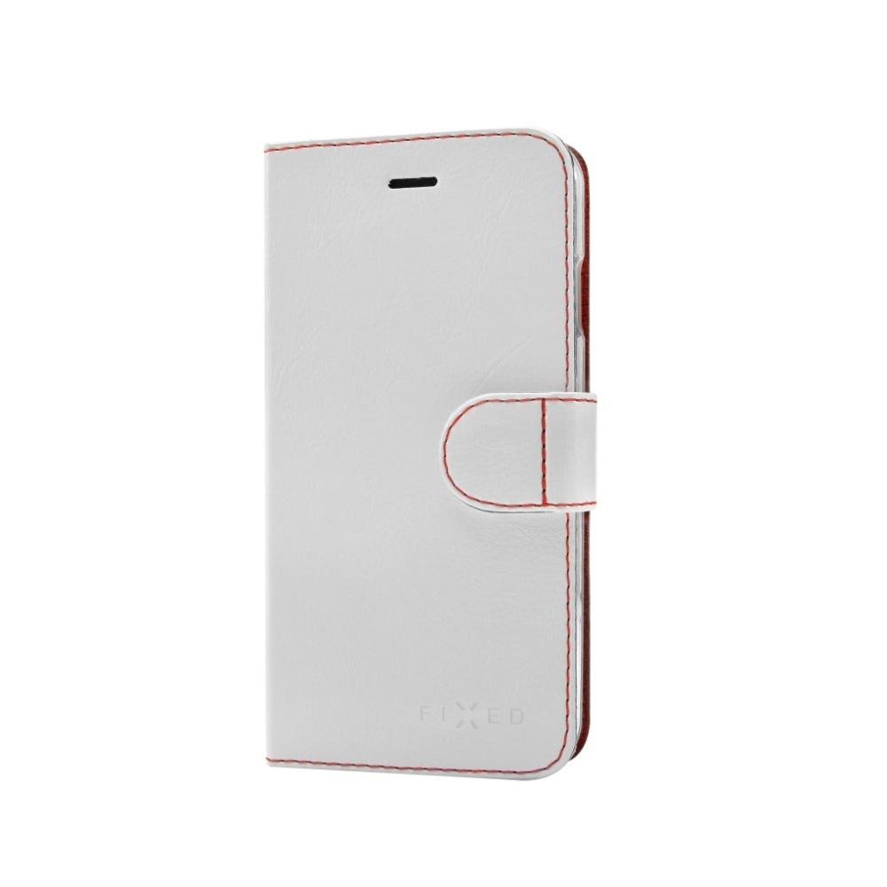 FIXED FIT flipové pouzdro na mobil Sony Xperia E5 bílé