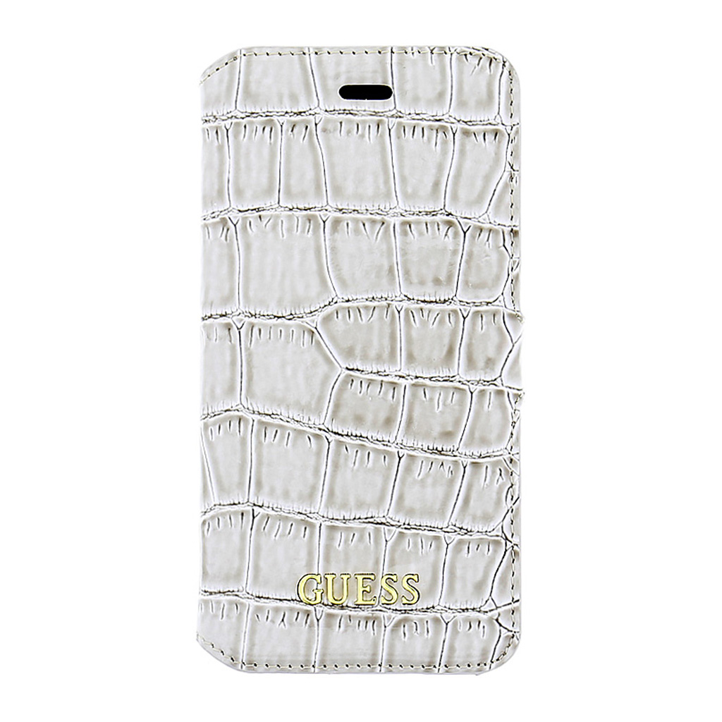 Guess Shiny Croco pouzdro flip GUFLBKP6LSCOBE Apple iPhone 6/6s Plus béžové