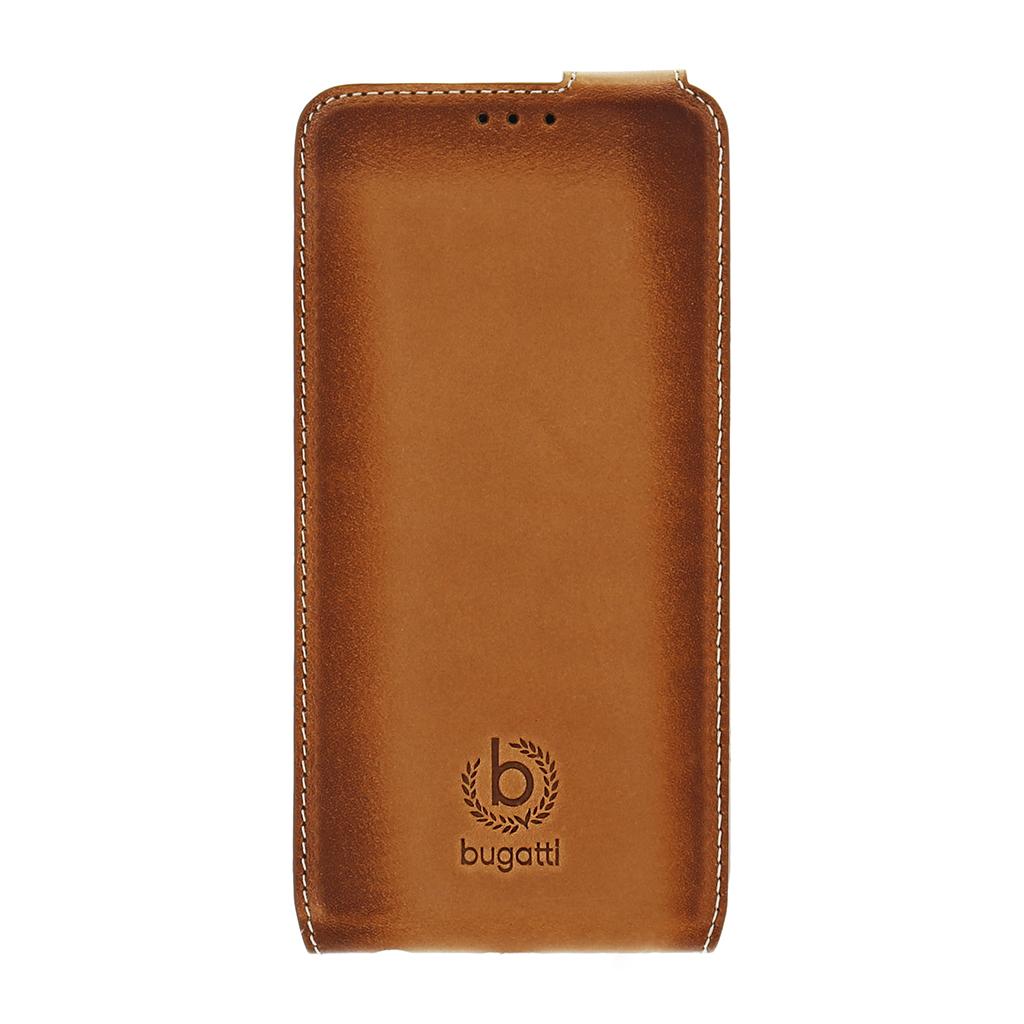 Bugatti Amsterdam Flip Pouzdro Cognac pro Samsung Galaxy S6