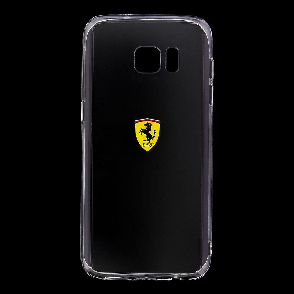 Ferrari Racing silikonové pouzdro pro Samsung Galaxy S7 Edge transparentní