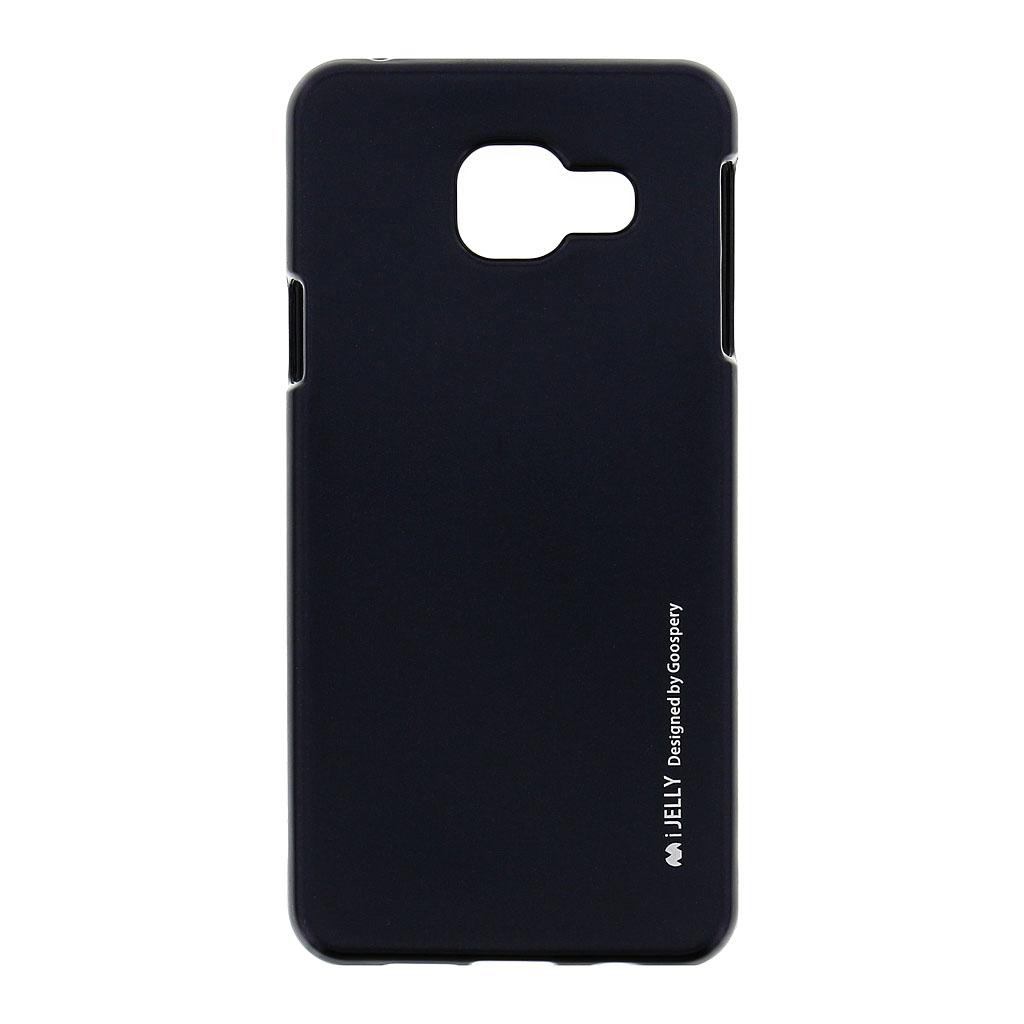 Silikonové pouzdro Mercury i-Jelly Metal pro Samsung Galaxy A3 2016, black