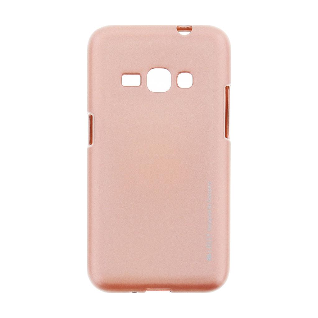 Mercury i-Jelly Case silikonové pouzdro pro Samsung Galaxy J1 2016 Metal Rose Gold