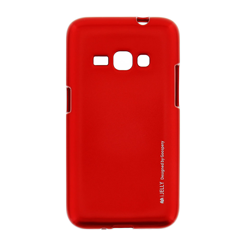 Mercury i-Jelly Case silikonové pouzdro pro Samsung Galaxy J1 2016 Metal Red
