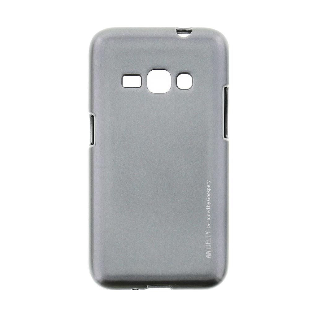 Mercury i-Jelly Case silikonové pouzdro pro Samsung Galaxy J1 2016 Metal Grey