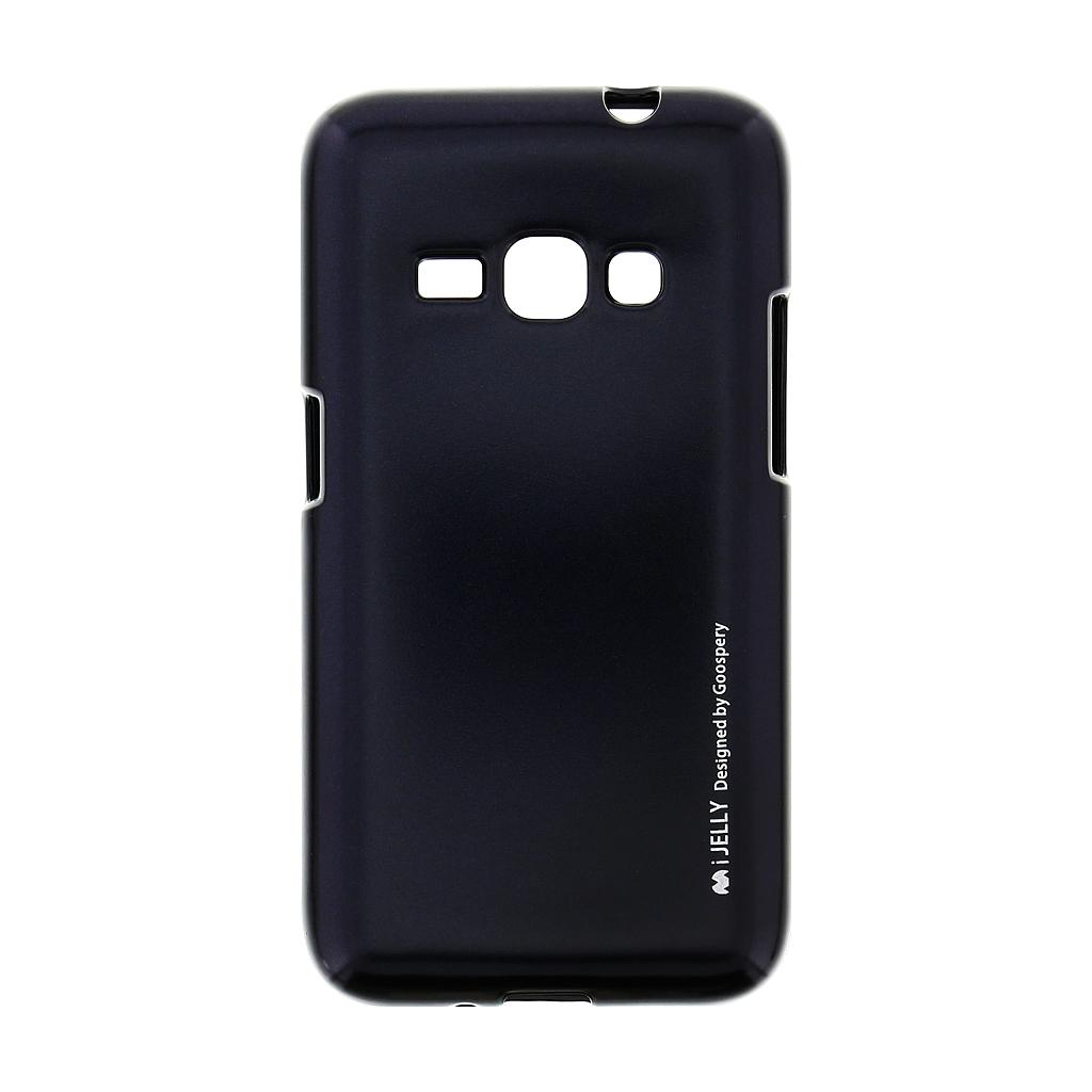 Mercury i-Jelly Case silikonové pouzdro pro Samsung Galaxy J1 2016 Metal Black