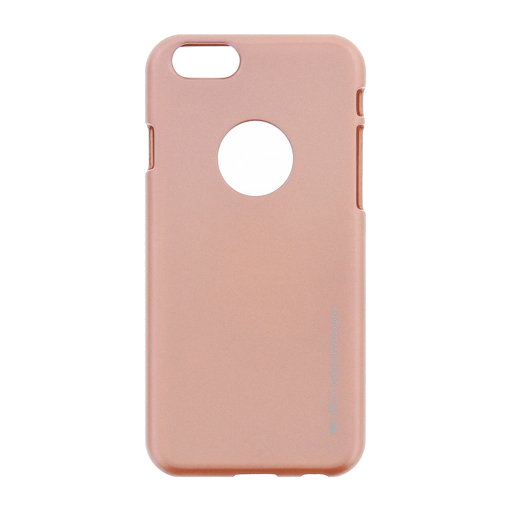 Silikonové pouzdro Mercury i-Jelly METAL pro Apple iPhone 6/6S Rose Gold