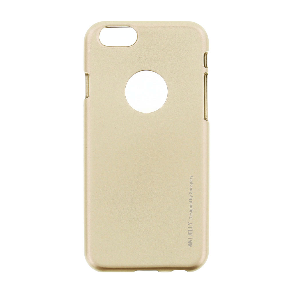 Mercury i-Jelly Case silikonové pouzdro pro Apple iPhone 6/6S Metal Gold