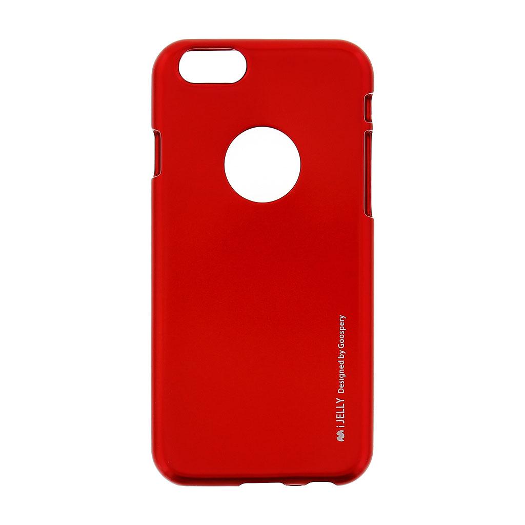 Silikonové pouzdro Mercury i-Jelly METAL pro Apple iPhone 6/6S Red