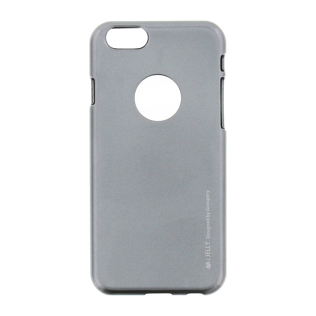 Mercury i-Jelly Case silikonové pouzdro pro Apple iPhone 6/6S Metal Grey