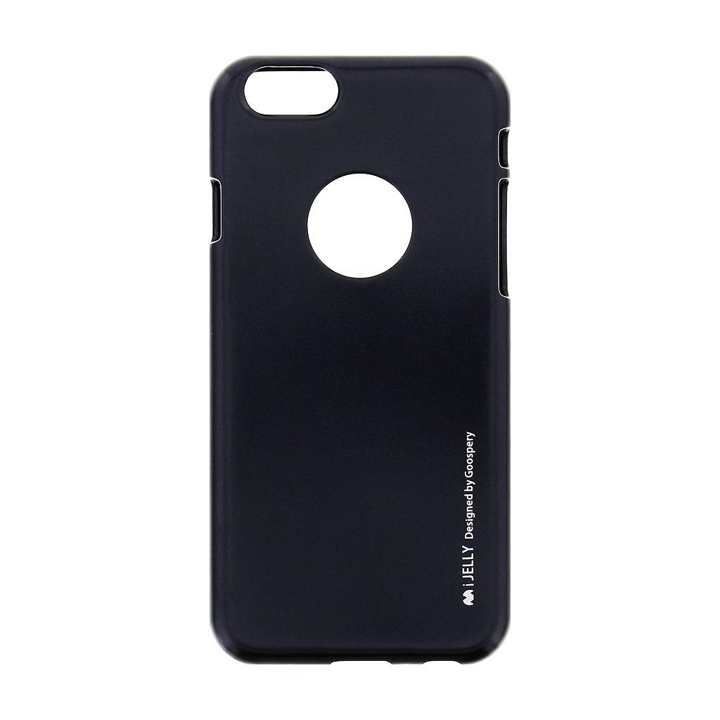 Silikonové pouzdro Mercury i-Jelly METAL pro Apple iPhone 6/6S, Black