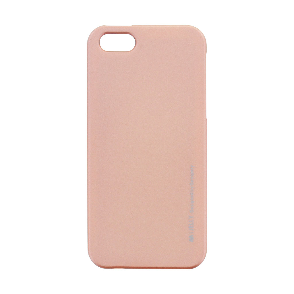 Mercury i-Jelly Case silikonové pouzdro pro Apple iPhone 5/5S/SE Metal Rose Gold