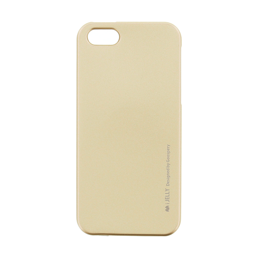 Mercury i-Jelly Case silikonové pouzdro pro Apple iPhone 5/5S/SE Metal Gold