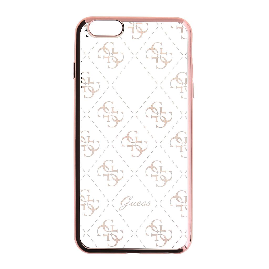 Guess 4G GUHCSETR4GRG silikonové pouzdro pro Apple iPhone 5/5S/SE Rose Gold