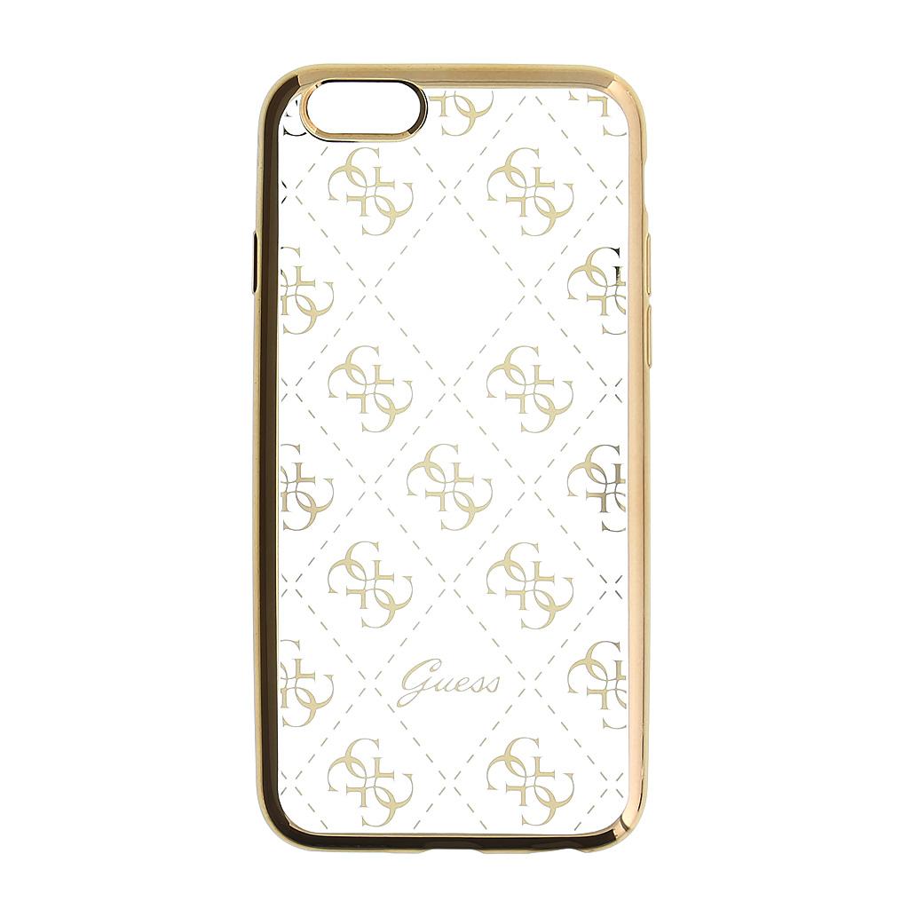 Guess 4G GUHCSETR4GG silikonové pouzdro pro Apple iPhone 5/5S/SE Gold