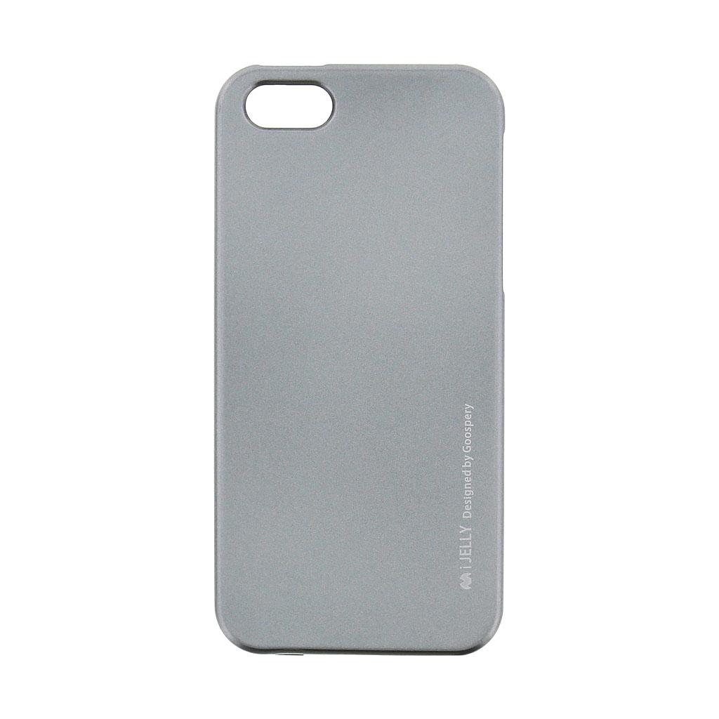 Silikonové pouzdro Mercury i-Jelly METAL pro Apple iPhone 5/5S/SE Grey