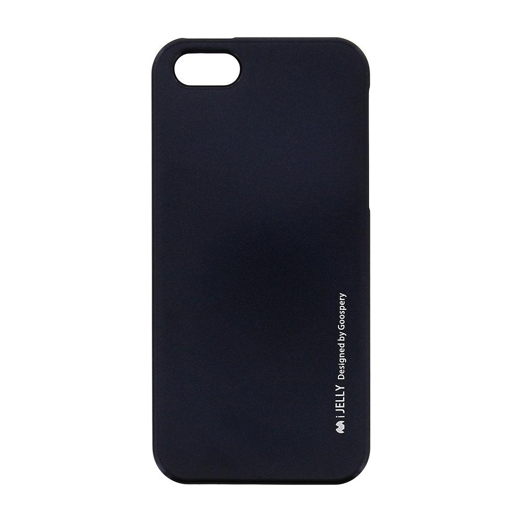 Silikonové pouzdro Mercury i-Jelly METAL pro Apple iPhone 5/5S/SE Black