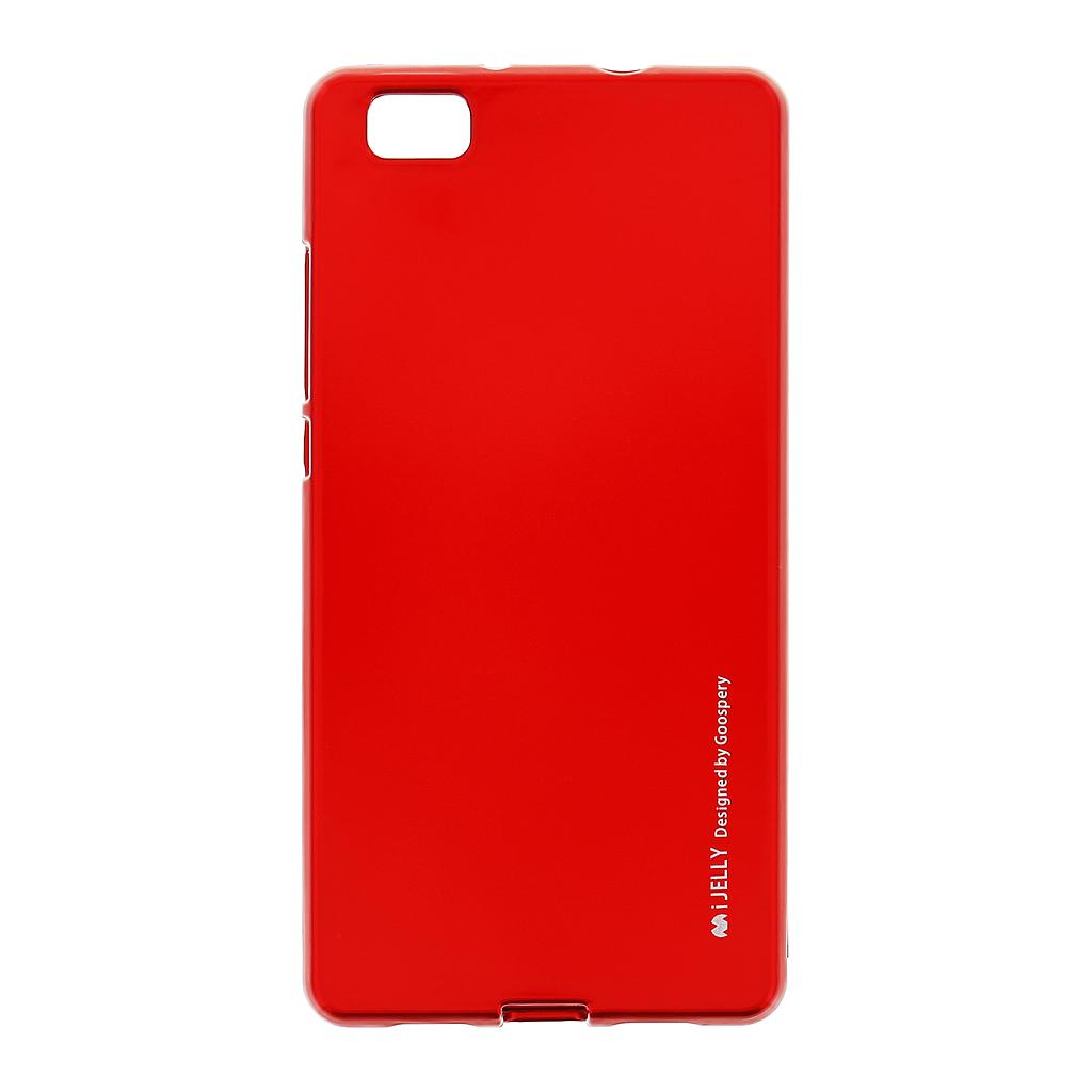 Silikonové pouzdro Mercury i-Jelly METAL pro Huawei P8 Lite Red