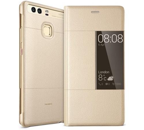 Huawei Original S-View flipové pouzdro Huawei P9 zlaté