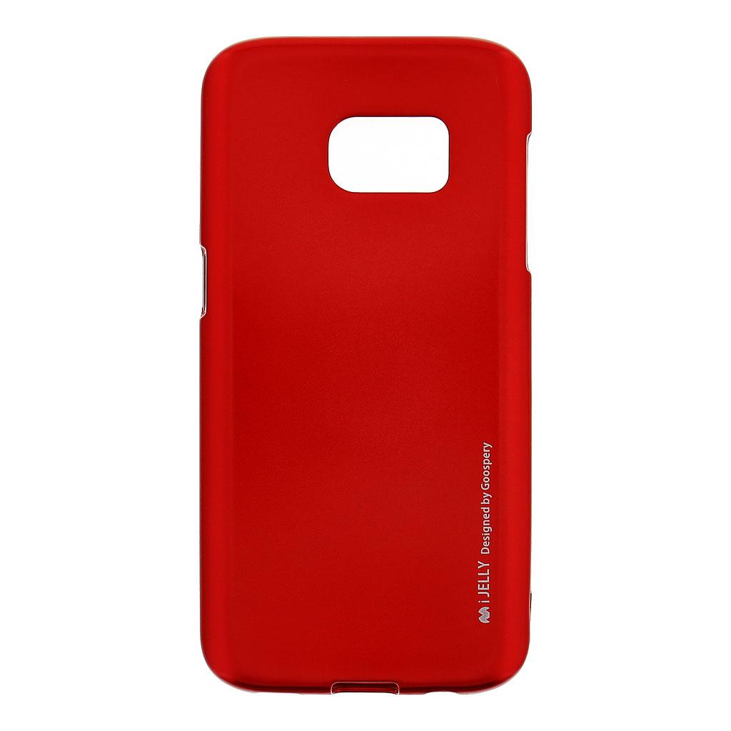 Mercury i-Jelly Case silikonové pouzdro pro Samsung Galaxy S7 Metal Red