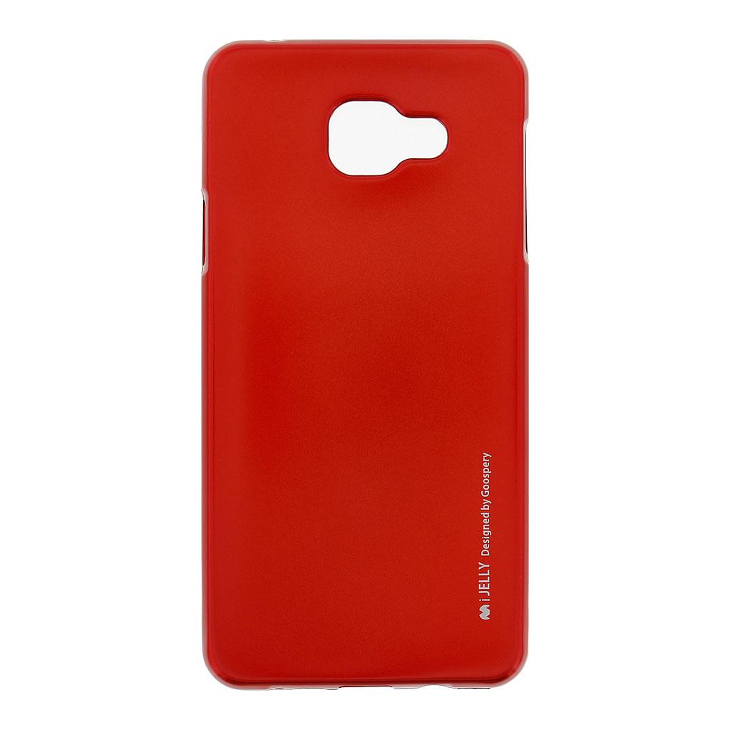 Mercury i-Jelly Case silikonové pouzdro pro Samsung A710 Galaxy A7 2016 Metal Red