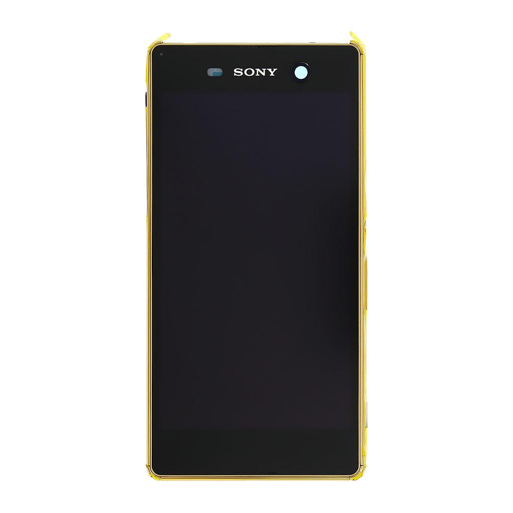 LCD display + dotyk. deska + př. kryt pro Sony Xperia M5 (E5603), zlatý (Service Pack)