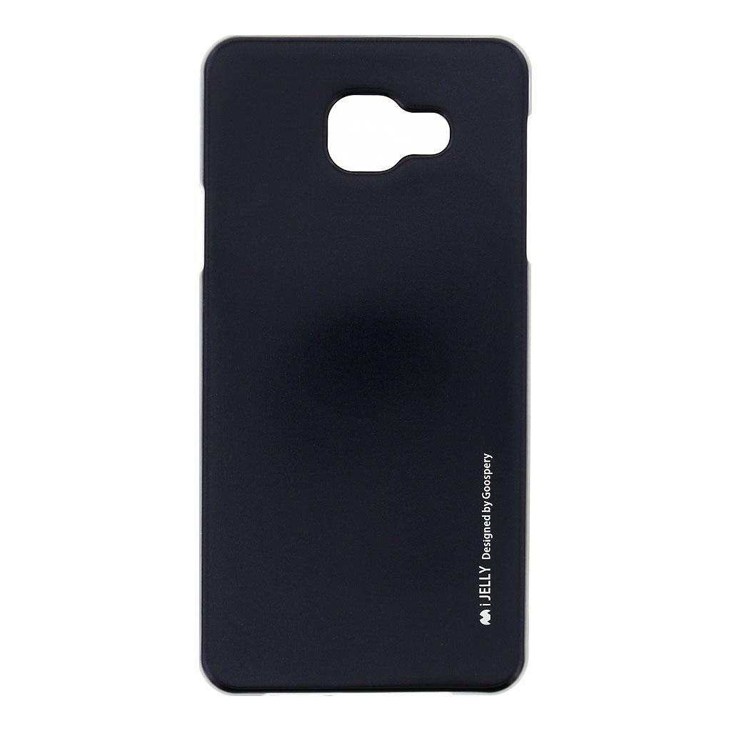 Mercury i-Jelly Case silikonové pouzdro pro Samsung A710 Galaxy A7 2016 Metal Black